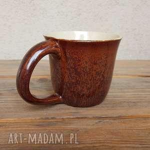 Kubek brązowy 2, kubek, ceramika, glina, rękodzieło