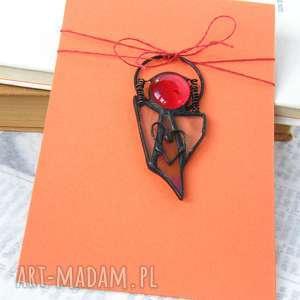 kartka na życzenia z małym aniołkiem, witrażowy aniołek