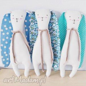 króliczek przytulaczek - ,królik,króliczek,zabawka,przytulanka,miś,niebieski,