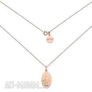 naszyjnik z różowego złota z medalikiem sotho - złote