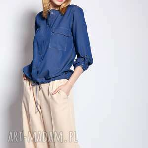 kurtka zapinana na napy, kr106 jeans, lato, cieńka, wyjściowa, lekka