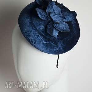 ozdoby do włosów niebieski toczek, fascynator, niebieski, storczyk, kwiaty