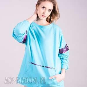 Bluza Damska Basic Niebieska, bluzy, spodnie, t-shirt, bluzki, sukienki, kurtki