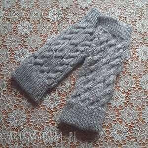 Szare cieniutkie mitenki wiosenne rękawiczki molicka mitenki