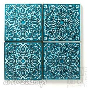 kafle largo XL turkusowe, kafle, płytki, dekory, ścienne, ceramiczne, ornamentowe