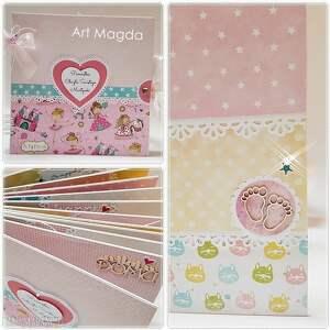 scrapbooking albumy album handmade dla dziecka, album, artmagda, ręcznie, robiony