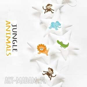 jungle - girlanda dŻungla - girlanda, gwiazdki, zwierzęta, dżungla