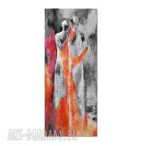 Lean on me 3, nowoczesny obraz ręcznie malowany, postacie, para, nowoczesny,