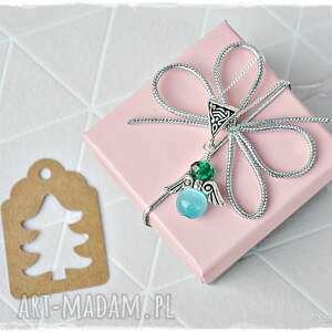 handmade prezenty świąteczne aniołek stróż - naszyjnik