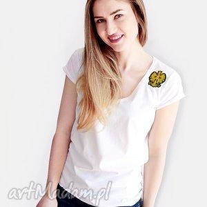 Koszulka ze złąotą aplikacją orła, koszulka, orzeł, polska, handmade, naszywka