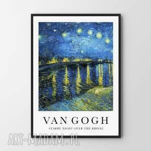 plakaty starry night over the rhone - plakat 40x50 cm, plakat, sztuka, grafika