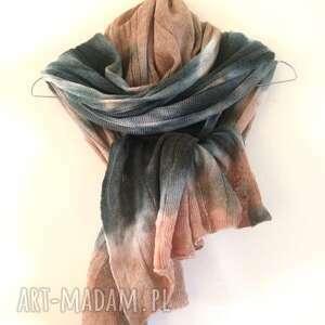 hand-made szaliki wełniany szal kora brzozy