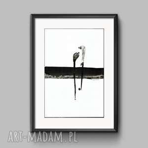 obraz A3 malowany recznie, abstrakcja, do salonu, minimalizm, obrazy-na-płótnie