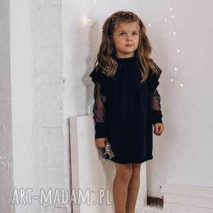 wyjątkowy prezent, sukienka dla dzewczynki, dziewczynki, czarna