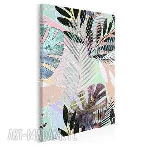 obraz na płótnie - liście egzotyczny tropikalny w pionie 50x70 cm 79803