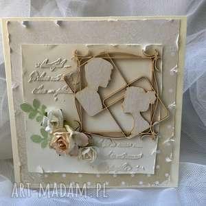 kartka okolicznościowa ślubna - ślub, para, młoda, jubilaci, kartka