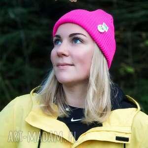 hand-made czapki czapa dwustronna logo z kolorowe neonowy róż