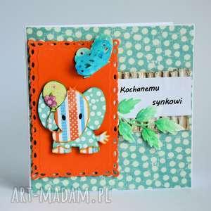 motylarnia kartka - kochanemu synkowi 1, kartka, syn, urodziny, umieniny, dziecko