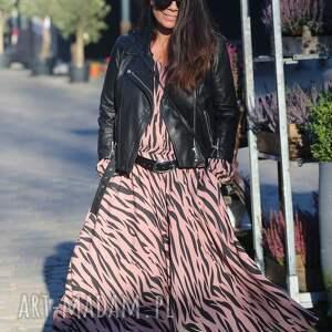 zebra sukienka, zebra, wiskoza, elegancki styl, maxi boho