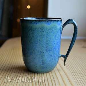 kubek ceramiczny indygo zielonkawy 300 ml, kubek, ceramika
