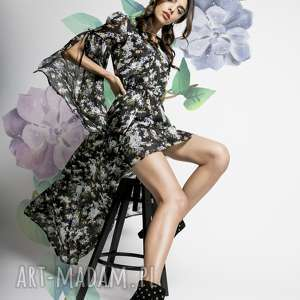 chou - dŁuga jedwabna sukienka, długa sukienka jedwabna, na lato