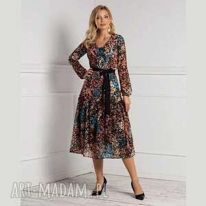 sukienka lana total midi julita, jesień, jesienna sukienka