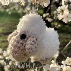 breloki biała owieczka - brelok, zawieszka do torebki, zawieszka, owca