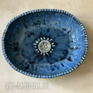 ceramiczna umywalka blue sky, ceramiczna, handmade umywalka, wystrój