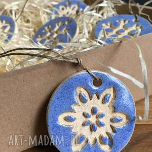 ręczne wykonanie święta prezenty ceramiczne śnieżynki