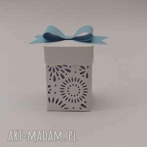 ręcznie wykonane zaproszenie pudełeczka podziękowania dla gości