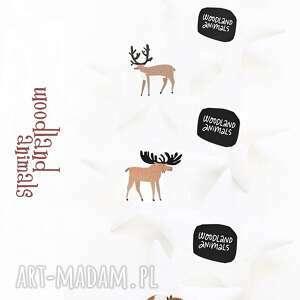 woodland animals - girlanda, zwierzęta, gwiazdki pokoik dziecka