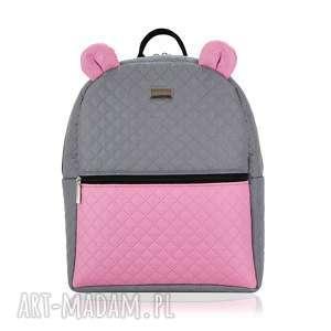 ręcznie wykonane plecaczek farbiś 998 szaro-różowy r