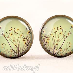 handmade komplety polne kwiaty - kolczyki sztyfty