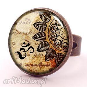 egginegg mandala - pierścionek regulowany, orientalna, prezent