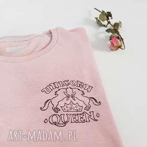 ręcznie zrobione koszulki t-shirt unicorn queen