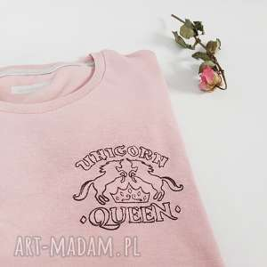 t-shirt unicorn queen - ,koszulka,haft,unicorn,jednorożec,t-shirt,różowa,