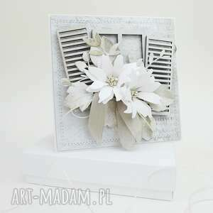 Z kwiatami - w pudełku scrapbooking kartki marbella ślub