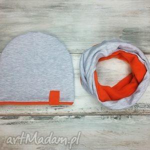 bukiet-pasji ciepły zimowy komplet czapka i komin dla - szalik polar
