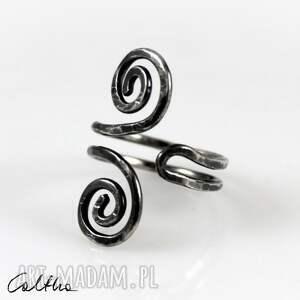 zawijasy - srebrny pierścionek 2110-03, pierścionek