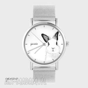 Zegarek, bransoletka - królik metalowy zegarki yenoo bransoletka
