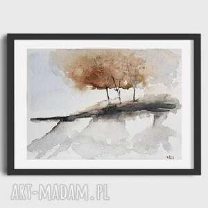 paulina lebida drzewa-akwarela formatu a5, akwarela, papier, drzewa