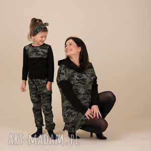 handmade spodnie moro baggy dla dziewczynki albo chłopca