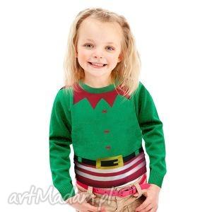 sweterek świąteczny dziecięcy - elfik, śmieszny, zabawny, prezent