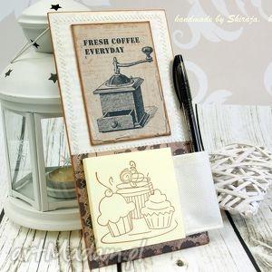 scrapbooking notesy notes na lodówkę- w kredensie babci, notes, na, lodówkę, magnes