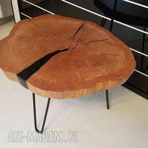 handmade stoły stolik kawowy dębowy