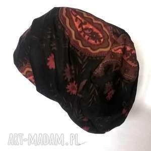 ruda klara czapka mała orientalna sztruks, czapka, włoska, rower