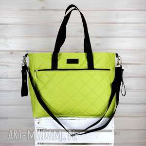 fb84d72a32d88 hand-made podróżne zielona torba weekendowa do wózka wodoodporna
