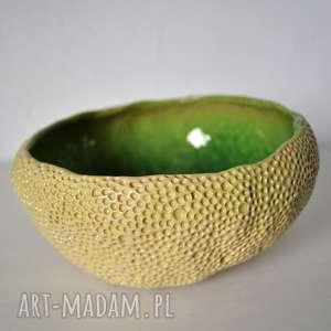 ręczne wykonanie ceramika miseczka ręcznie fakturowana