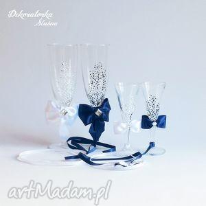 zestaw 4 ręcznie malowanych kieliszków do szampana, kieliszki, szampanówki