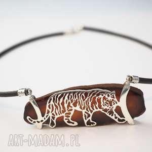 naszyjniki przyczajony tygrys, natura, srebro, boho, afryka, naszyjnik